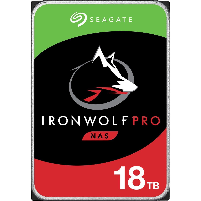 "Seagate IronWolf Pro ST18000NE000 18 TB Hard Drive - 3.5"" Internal - SATA (SATA/600) - Conventional Magnetic Recording (CMR) Method"