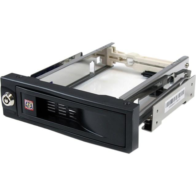 "StarTech.com HSB100SATBK Drive Bay Adapter for 5.25"" - Serial ATA/600 Host Interface Internal - Black"
