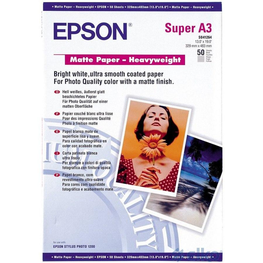 Epson C13S041264 Inkjet Matte Paper - White