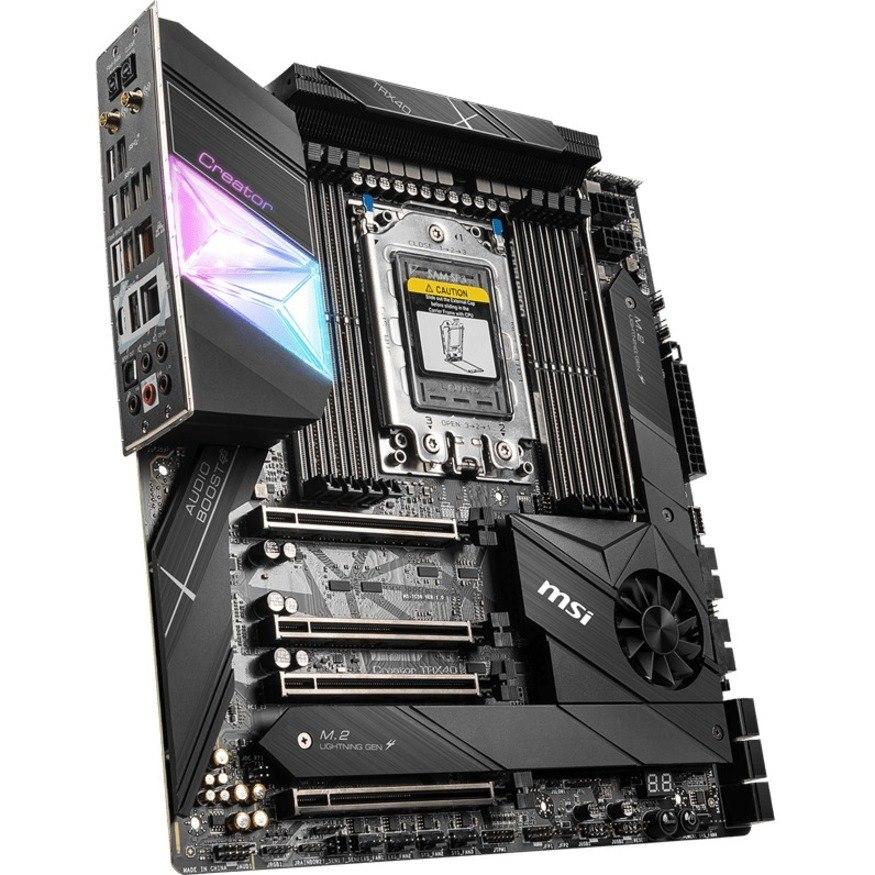 MSI Creator TRX40 Desktop Motherboard - AMD Chipset - Socket sTRX4 - Extended ATX