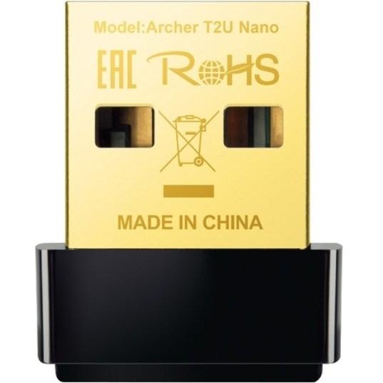 TP-Link Archer T2U Nano IEEE 802.11ac Wi-Fi Adapter for Notebook