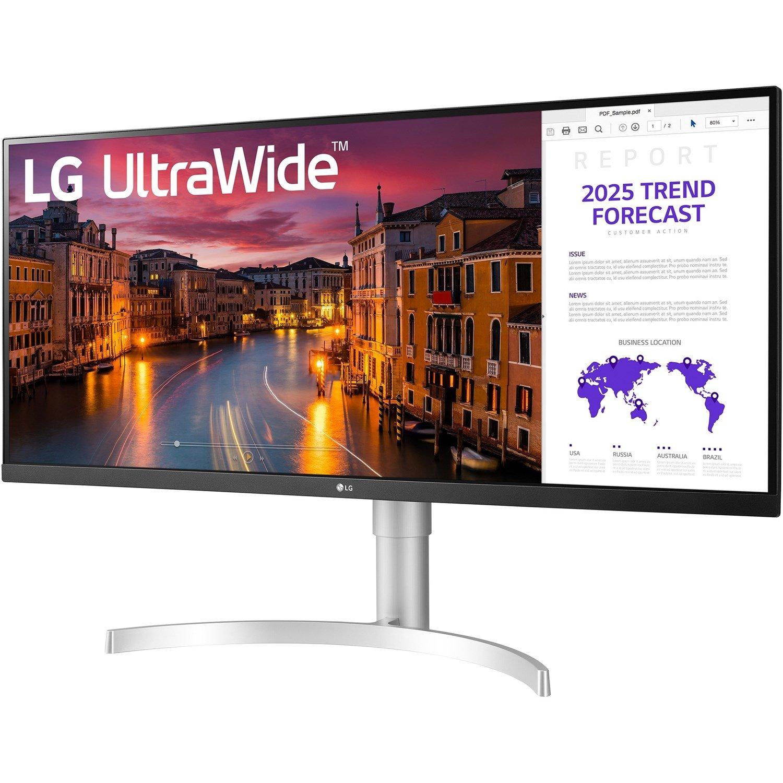 "LG Ultrawide 34WN650-W 86.4 cm (34"") UW-UXGA LED Gaming LCD Monitor - 21:9 - White, Black, Silver"