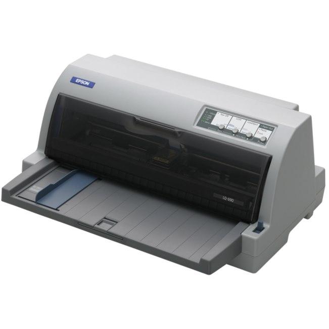 Epson LQ-690 24-pin Dot Matrix Printer - Monochrome - Energy Star
