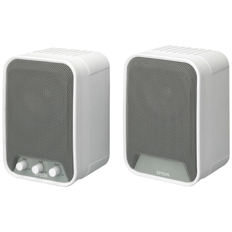 Epson ELP-SP02 2.0 Speaker System - 30 W RMS - White, Grey