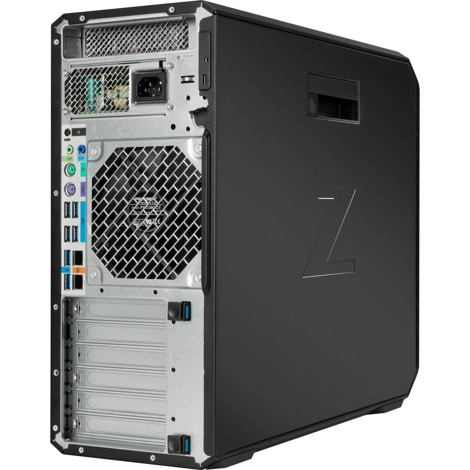 HP Z4 G4 Workstation - 1 x Intel Xeon Hexa-core (6 Core) W-2133 3.60 GHz - 32 GB DDR4 SDRAM RAM - 1 TB HDD - 1 TB SSD - Mini-tower - Black