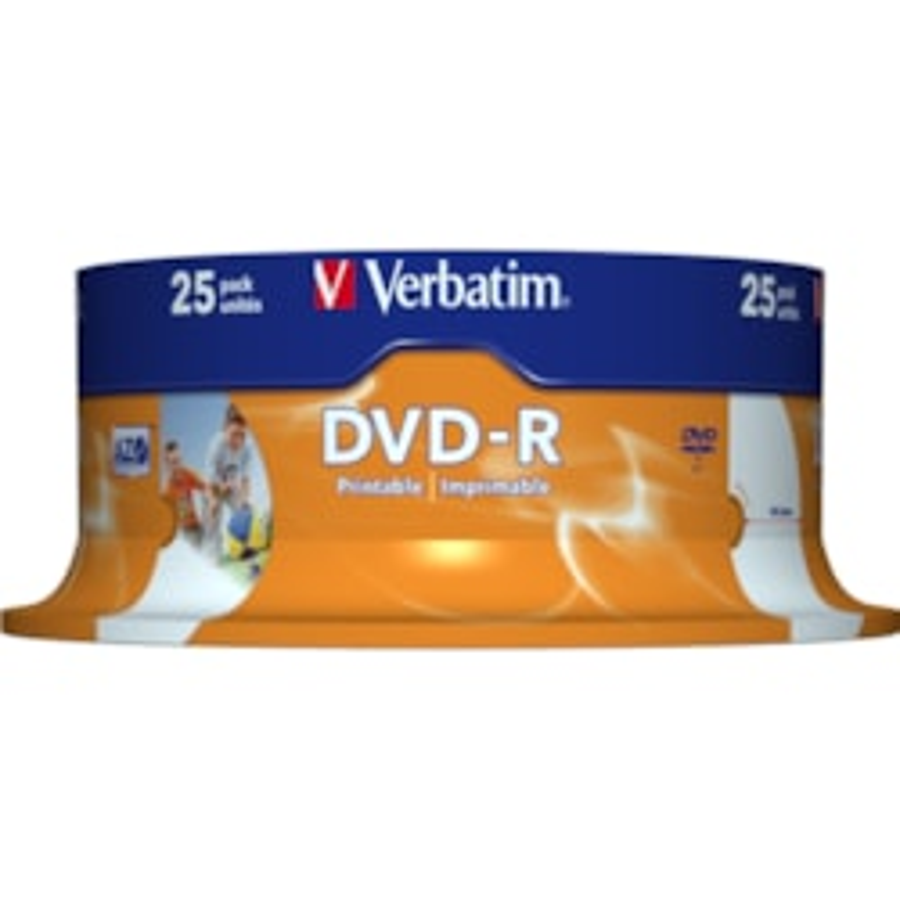 Verbatim 43538 DVD Recordable Media - DVD-R - 16x - 4.70 GB - 25 Pack Spindle