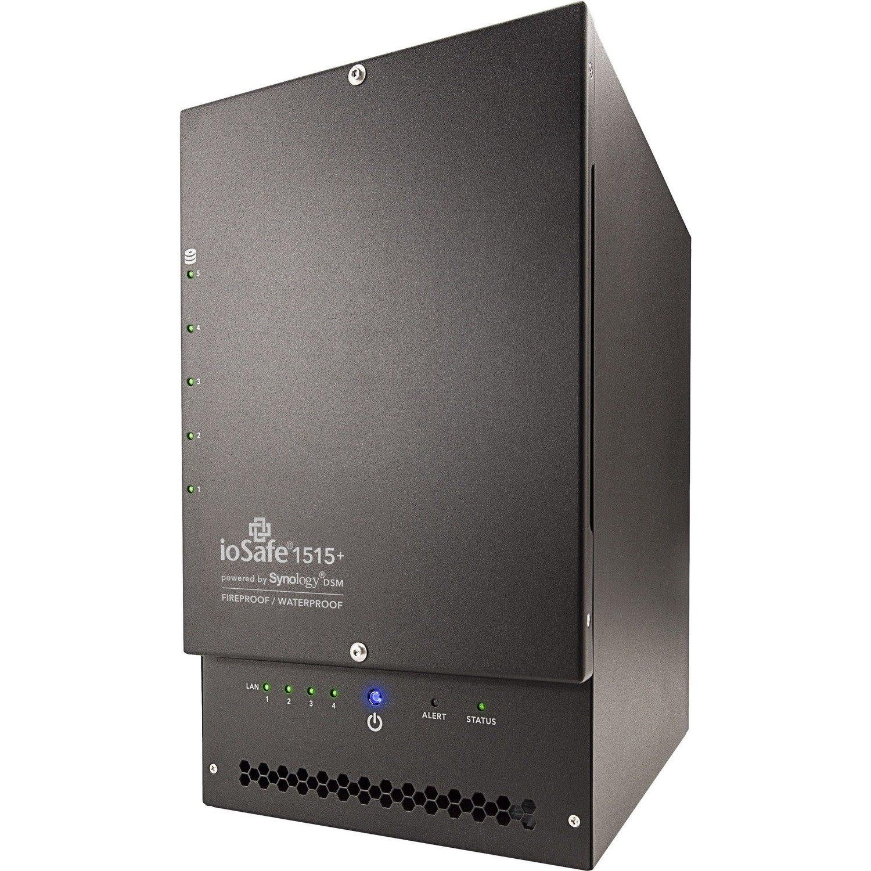 ioSafe 1515+ 5 x Total Bays NAS Storage System - 10 TB HDD - Intel Atom C2538 Quad-core (4 Core) 2.40 GHz - 2 GB RAM - DDR3 SDRAM External