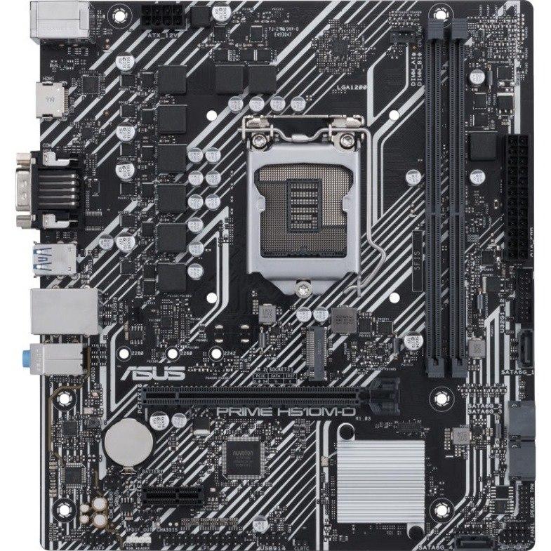 Asus Prime H510M-D/CSM Desktop Motherboard - Intel Chipset - Socket LGA-1200 - Micro ATX