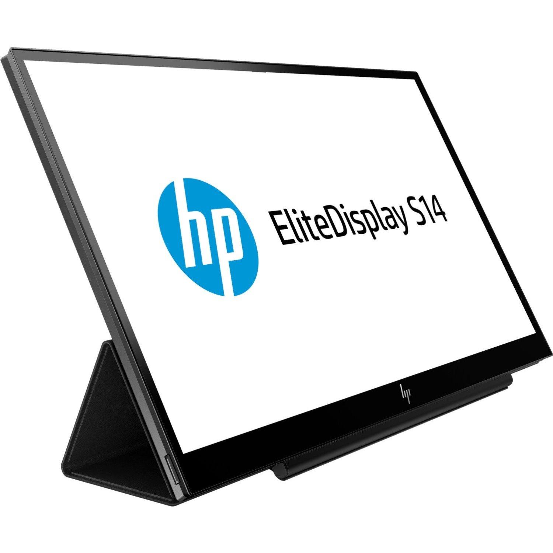 "HP Business S14 35.6 cm (14"") Full HD LED LCD Monitor - 16:9 - Ebony Black"
