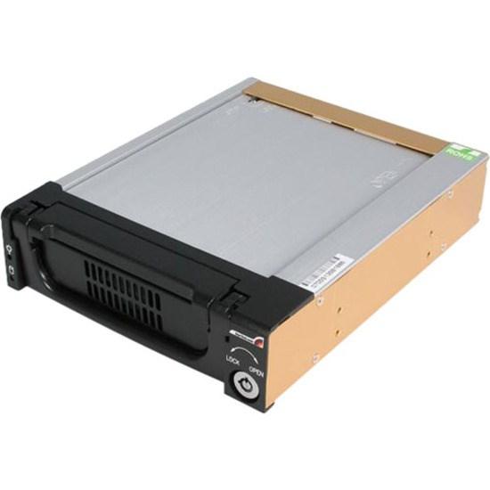 "StarTech.com DRW150SATBK Drive Bay Adapter for 5.25"" - Serial ATA/600 Host Interface Internal - Black"