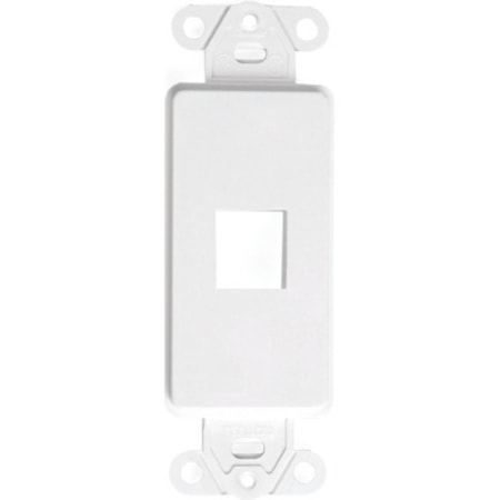 Decora QuickPort Faceplate Insert - White