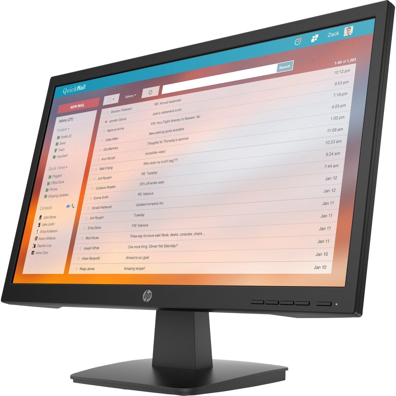 "HP P22v G4 54.6 cm (21.5"") Full HD LCD Monitor - 16:9 - Black"