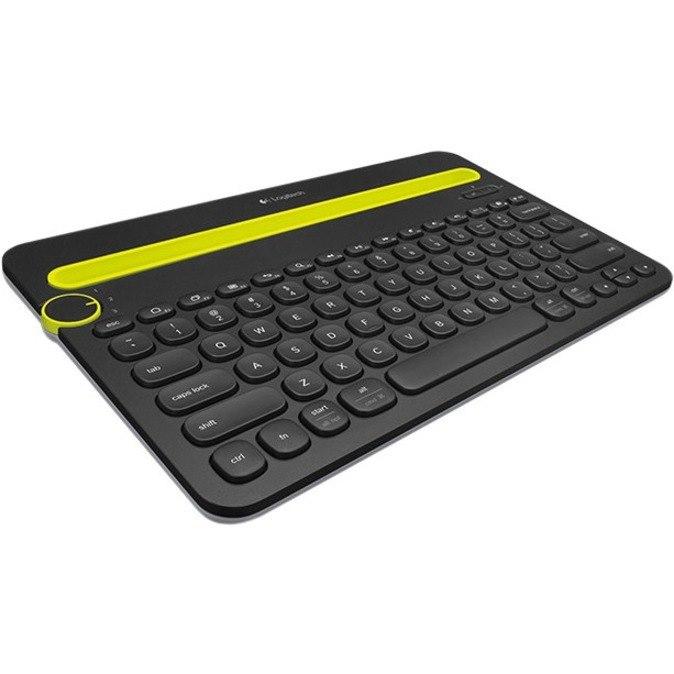 Logitech K480 Keyboard - Wireless Connectivity - Black