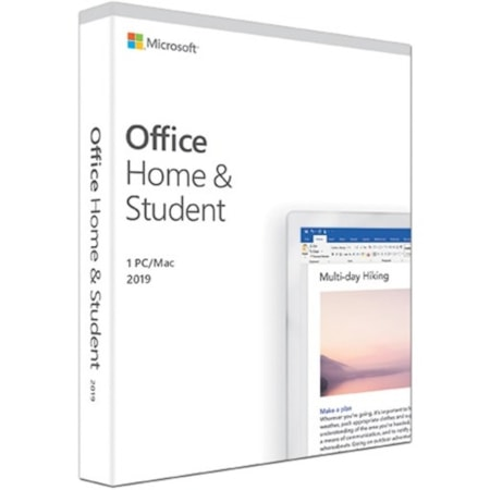 Microsoft Office 2019 Home & Student for Windows 10, Mac OS - Box Pack - 1 PC
