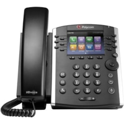 Poly VVX 401 IP Phone - Corded - Wall Mountable - Black