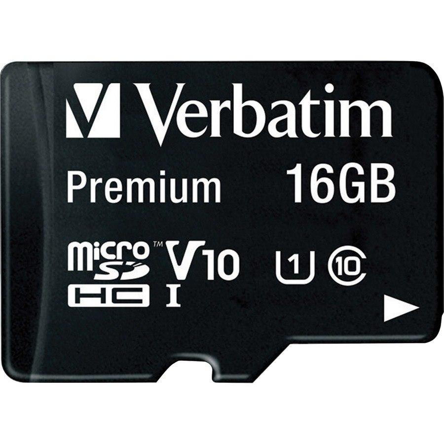 Verbatim 16 GB Class 10/UHS-I (U1) microSDHC - 1 Pack - TAA Compliant