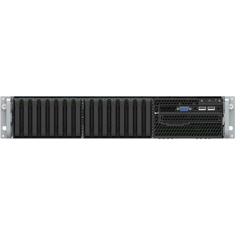 Intel Server System VRN2208WFAF83 2U Rack Server - 1 x Intel Xeon Gold 6152 2.10 GHz - 32 GB RAM - 2 TB SSD - Serial ATA Controller