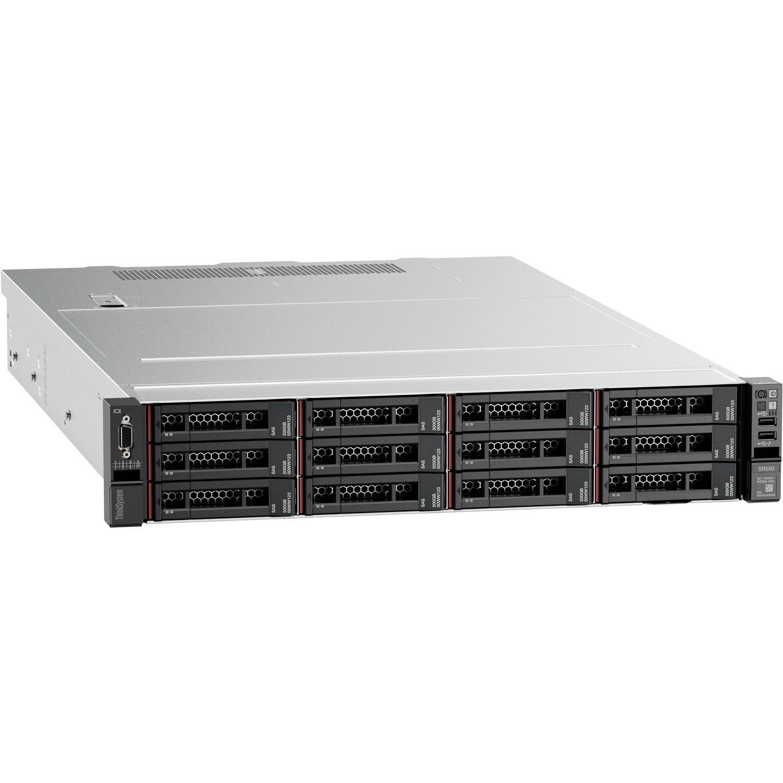 Lenovo ThinkSystem SR550 7X04A07LAU 2U Rack Server - 1 x Intel Xeon Silver 4208 2.10 GHz - 16 GB RAM - Serial ATA/600, 12Gb/s SAS Controller
