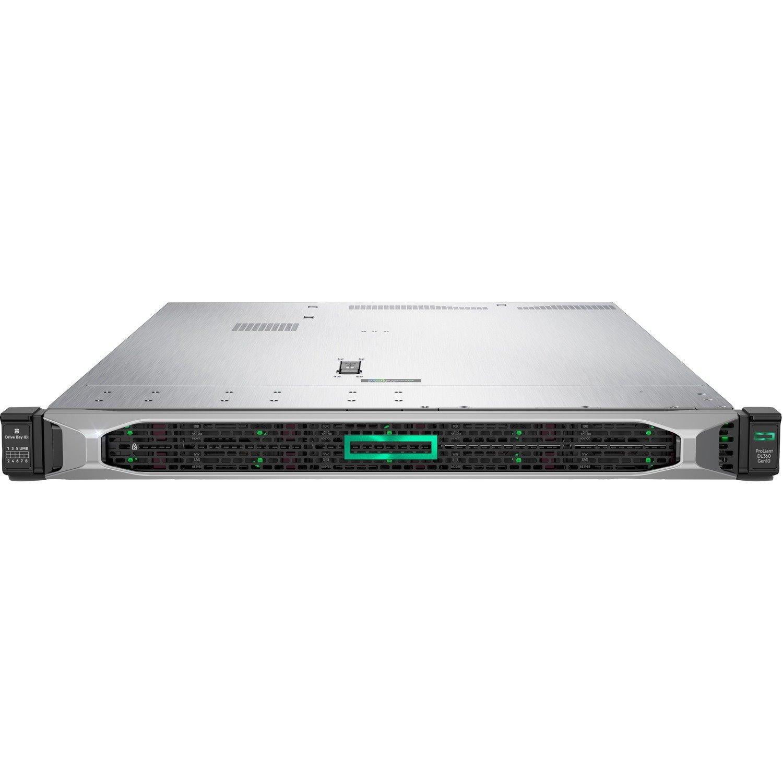 HPE ProLiant DL360 G10 1U Rack Server - 1 x Intel Xeon Silver 4208 2.10 GHz - 16 GB RAM - Serial ATA/600, 12Gb/s SAS Controller