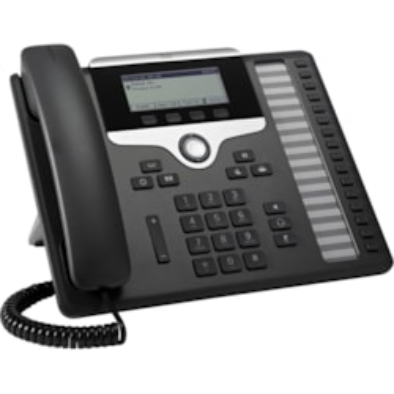 Cisco 7861 IP Phone - Corded - Wall Mountable, Desktop - Charcoal