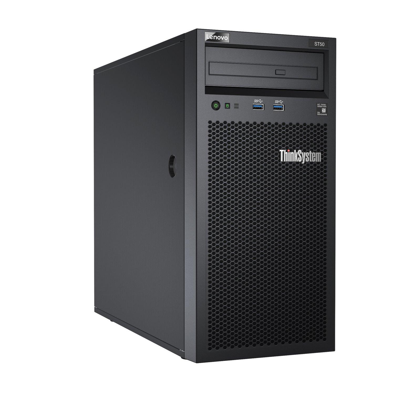 Lenovo ThinkSystem ST50 7Y48A02WAU 4U Tower Server - 1 x Intel Xeon E-2246G 3.60 GHz - 16 GB RAM HDD SSD - Serial ATA/600 Controller