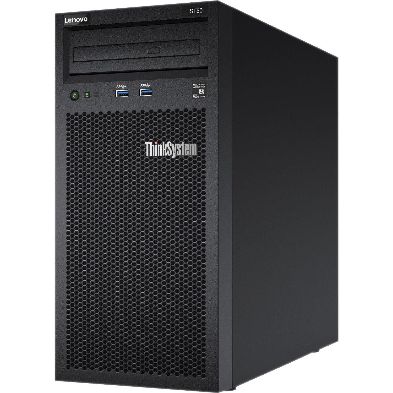 Lenovo ThinkSystem ST50 7Y49A01JAU 4U Tower Server - 1 x Intel Xeon E-2104G 3.20 GHz - 8 GB RAM - Serial ATA/600 Controller