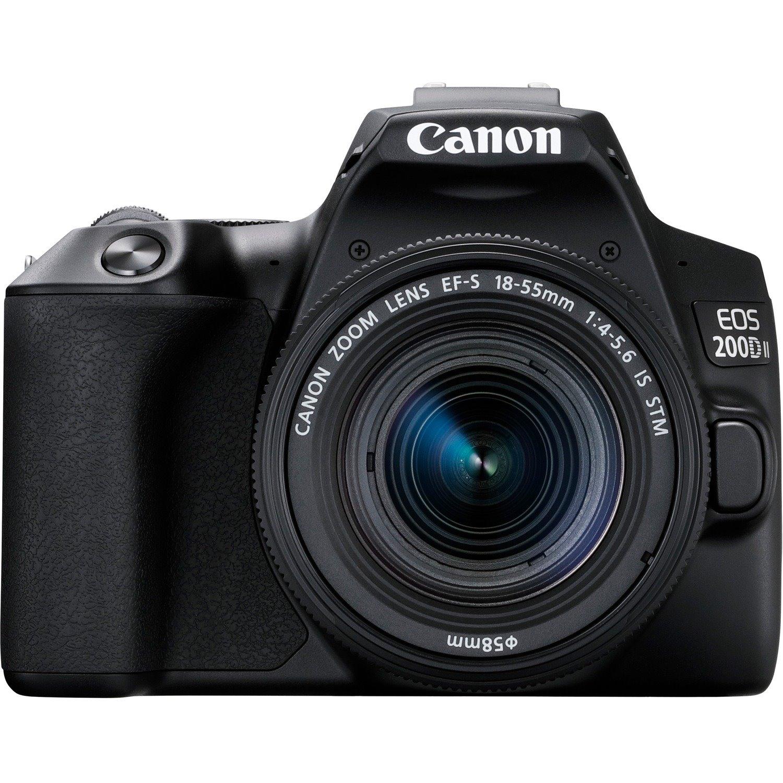 Canon EOS 200D Mark II 24.1 Megapixel Digital SLR Camera with Lens - 18 mm - 55 mm