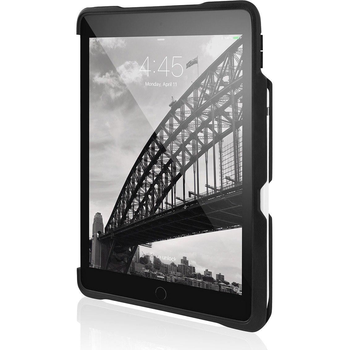 STM Goods Dux Case for Apple iPad Pro, iPad Pro (2017) Tablet - Translucent, Black