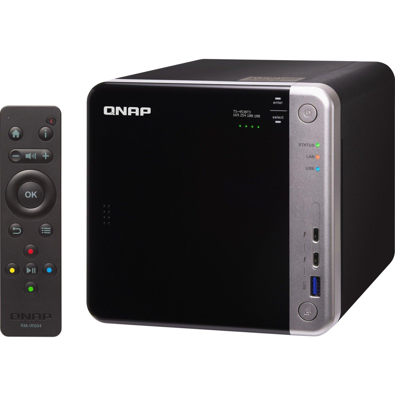 QNAP TS-453BT3 4 x Total Bays SAN/NAS/DAS Storage System - Intel Celeron Quad-core (4 Core) 1.50 GHz - 8 GB RAM - DDR3L SDRAM Tower