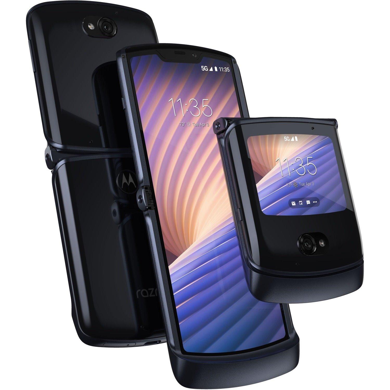 "Motorola razr 5G 256 GB Smartphone - 6.2"" P-OLED HD 2142 x 876 - Kryo 475 PrimeSingle-core (1 Core) 2.40 GHz + Kryo 475 Gold Single-core (1 Core) 2.20 GHz + Kryo 475 Silver Hexa-core (6 Core) 1.80 GHz) - 8 GB RAM - Android 10 - 5G - Polished Graphite"