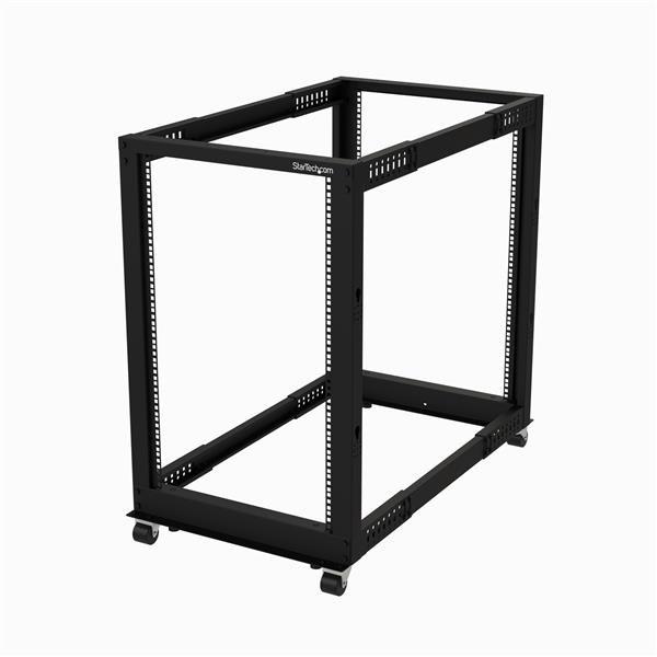 StarTech.com 18U Floor Standing Rack Frame for Server, KVM Switch, LAN Switch, Patch Panel, A/V Equipment - 482.60 mm Rack Width x 1023.62 mm Rack Depth - Black
