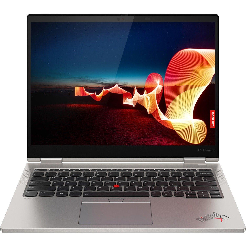 "Lenovo ThinkPad X1 Titanium Yoga Gen 1 20QA001EAU LTE 34.3 cm (13.5"") Touchscreen 2 in 1 Notebook - QHD - 2256 x 1504 - Intel Core i7 (11th Gen) i7-1160G7 Quad-core (4 Core) 2.10 GHz - 16 GB RAM - 512 GB SSD - Titanium"
