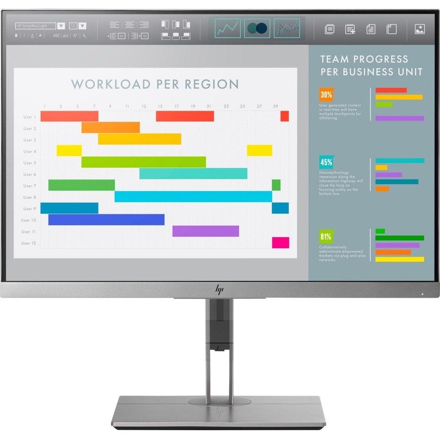 "HP Business E243i 61 cm (24"") WUXGA WLED LCD Monitor - 16:10 - Silver, Black"