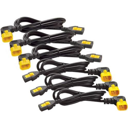 AP8702R-WW Power Cord Kit (6 ea), Locking, C13 to C14 (90 Degree), 0.6m