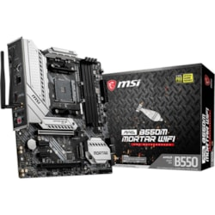 MSI MAG B550M MORTAR WIFI Desktop Motherboard - AMD Chipset - Socket AM4 - Micro ATX