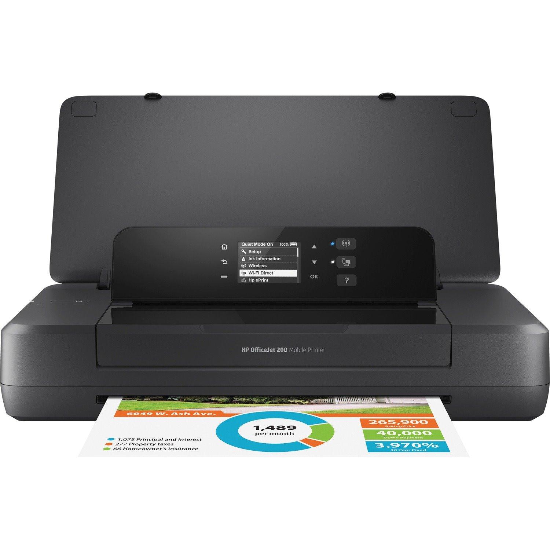 HP Officejet 200 Portable Inkjet Printer - Colour
