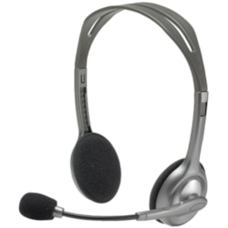 Logitech H110 Wired Over-the-head Stereo Headset - Black/Silver