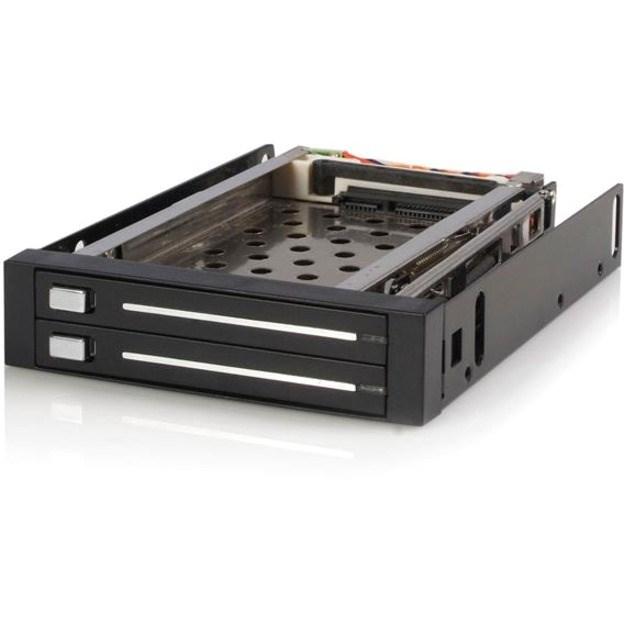 "StarTech.com Drive Enclosure for 3.5"" SATA/600 - Serial ATA/600 Host Interface Internal - Black"