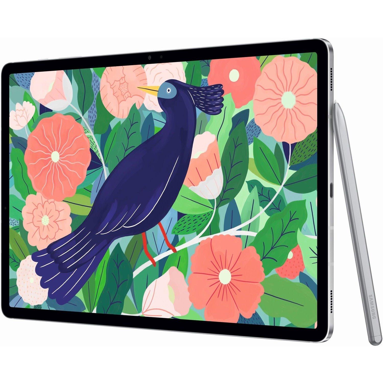 "Samsung Galaxy Tab S7+ SM-T976 Tablet - 31.5 cm (12.4"") WQXGA+ - Octa-core (8 Core) 3.09 GHz 2.40 GHz 1.80 GHz - 8 GB RAM - 256 GB Storage - Android 10 - 5G - Mystic Silver"