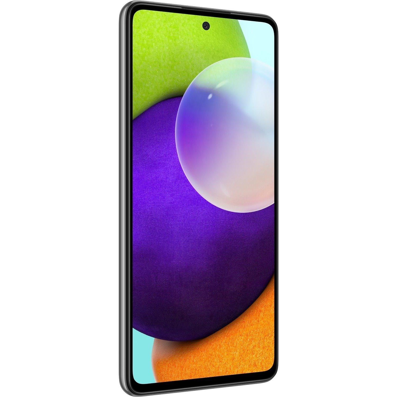 "Samsung Galaxy A52 SM-A525F/DS 128 GB Smartphone - 16.5 cm (6.5"")Super AMOLED Full HD Plus 1080 x 2400 - Qualcomm Kryo 465 GoldDual-core (2 Core) 2.30 GHz - 8 GB RAM - Android 11 - 4G - Awesome Black"