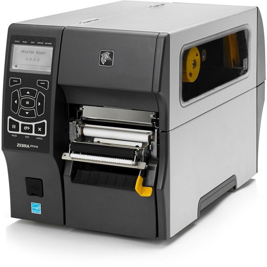 Zebra ZT410 Desktop Direct Thermal/Thermal Transfer Printer - Monochrome - Label Print - Ethernet - USB - Serial - Bluetooth