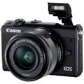 Canon EOS M100 24 Megapixel Mirrorless Camera with Lens - 15 mm - 45 mm (Lens 1), 55 mm - 200 mm (Lens 2) - Black