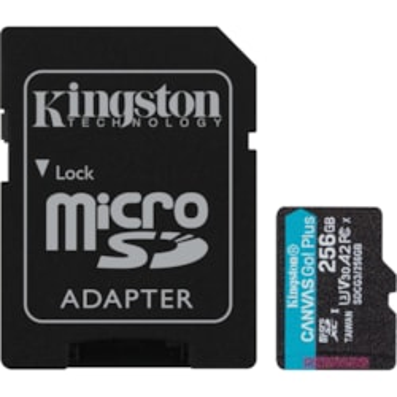 Kingston Canvas Go! Plus 256 GB Class 10/UHS-I (U3) microSDXC