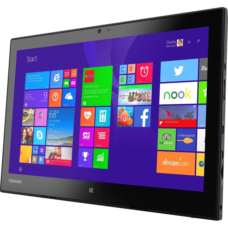 "Toshiba Portege WT20 WT20-B2100 Tablet - 12.5"" Full HD - Core M 5Y10c Dual-core (2 Core) 800 MHz - 4 GB RAM - 128 GB SSD - Windows 8.1 Pro 64-bit - Graphite Black Metallic"