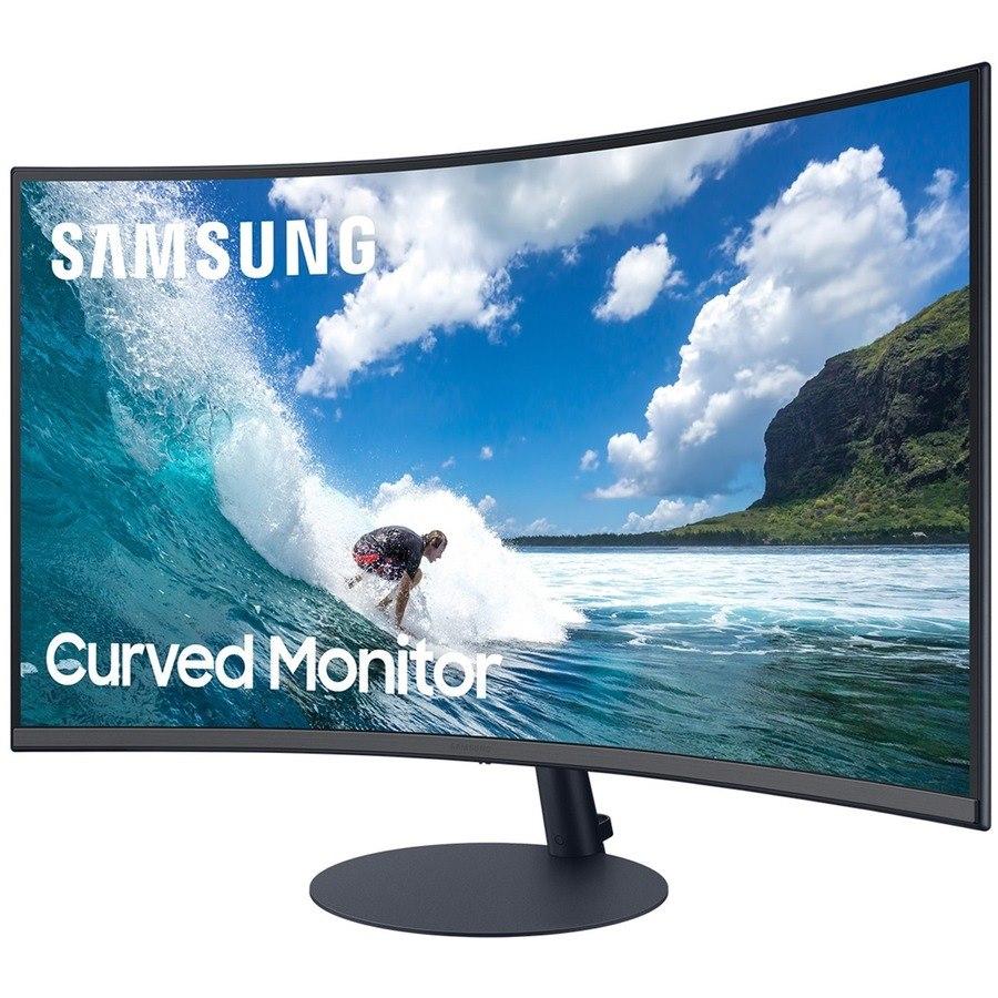"Samsung C27T550FDN 27"" Full HD Curved Screen LED Gaming LCD Monitor - 16:9 - Dark Blue Gray"