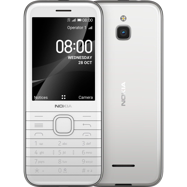 "Nokia 8000 4G 4 GB Feature Phone - 7.1 cm (2.8"") Active Matrix TFT LCD QVGA 320 x 240 - Cortex A7Quad-core (4 Core) 1.10 GHz - 512 MB RAM - 4G - Opal White"