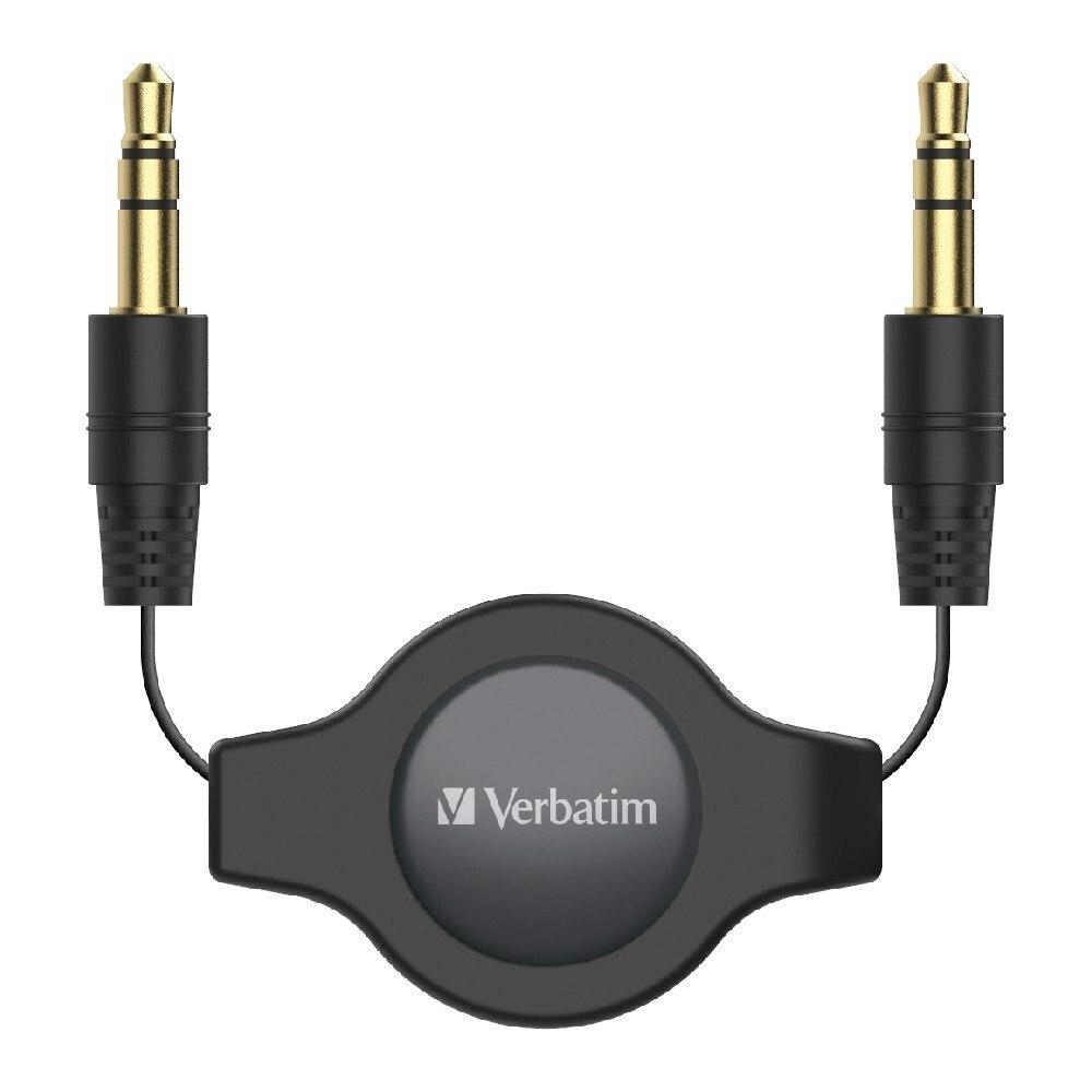 Verbatim 1 m Mini-phone Audio Cable for Audio Device, Cellular Phone, Speaker, Car Stereo