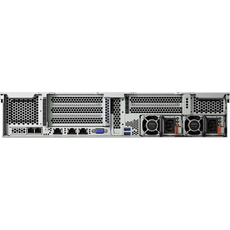 Lenovo ThinkSystem SR550 7X04A07JAU 2U Rack Server - 1 x Intel Xeon Silver 4208 2.10 GHz - 16 GB RAM - Serial ATA/600 Controller