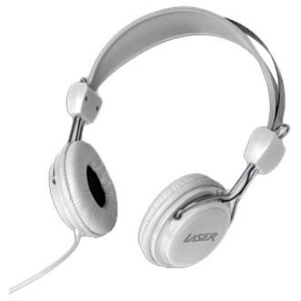 LASER Wired Over-the-head Binaural Stereo Headphone - White