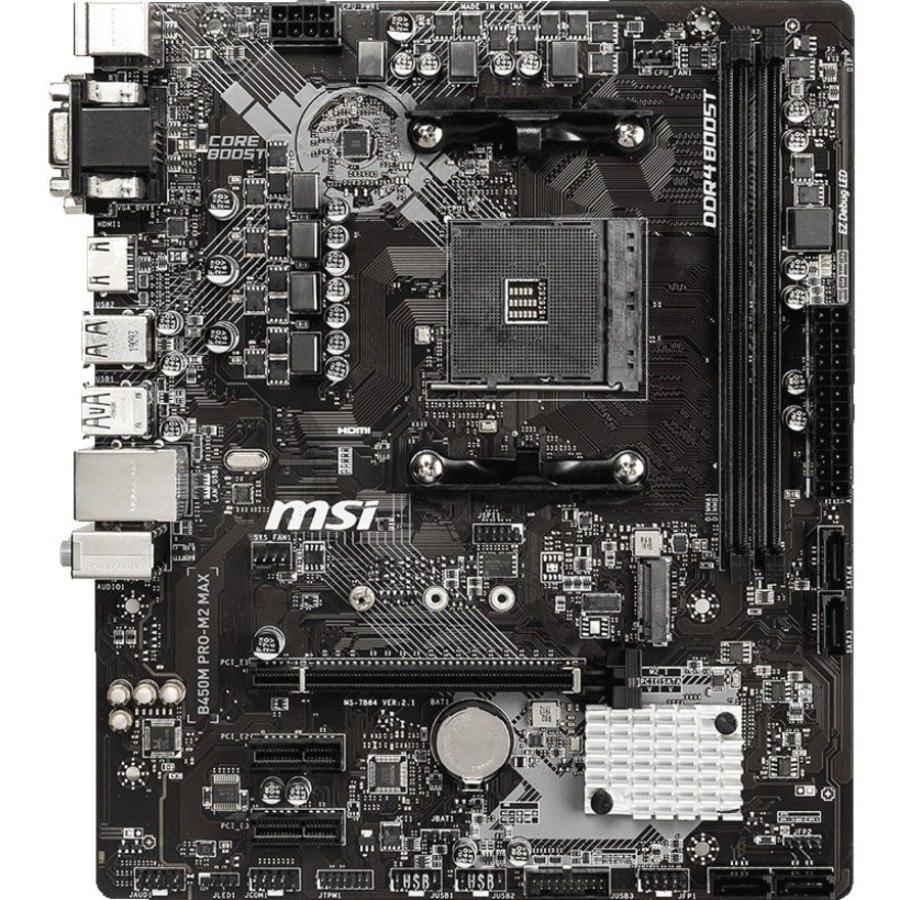 MSI B450M PRO-M2 MAX Desktop Motherboard - AMD Chipset - Socket AM4 - Micro ATX